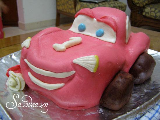 Easy Lightning Mcqueen Cake