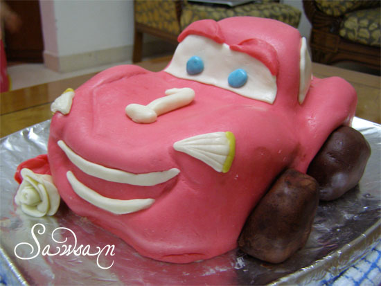 Awe Inspiring Lightning Mcqueen Car Cake Step By Step Chef In Disguise Funny Birthday Cards Online Overcheapnameinfo