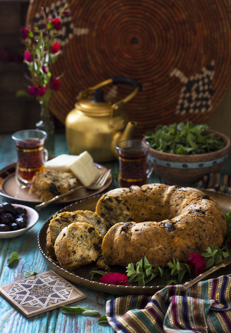 Middle Eastern Zaatar and cheese cake