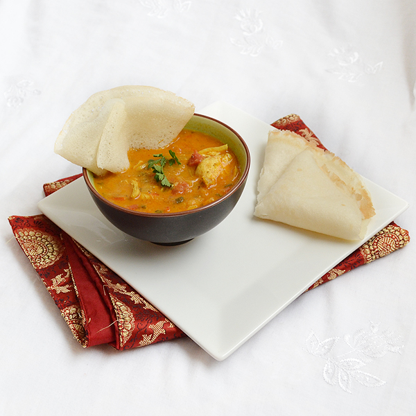 Appam and Curry from Chef in Disguise