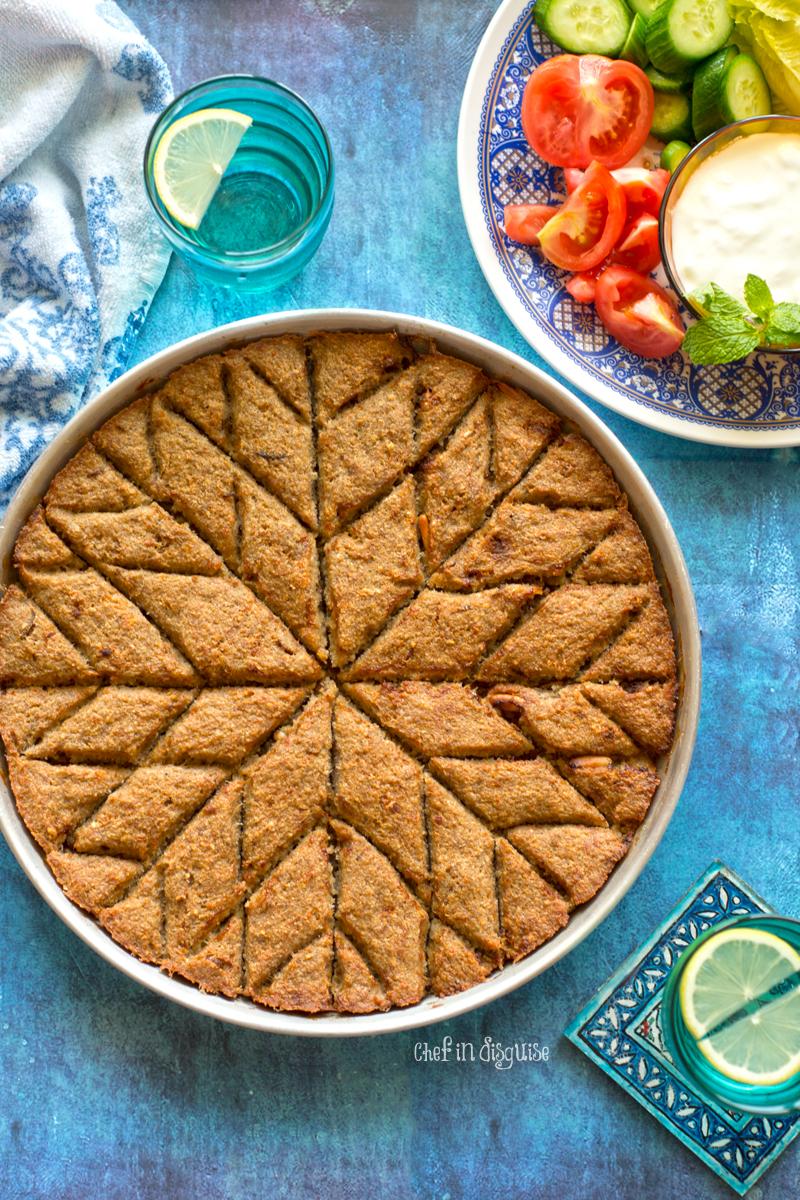 Lebanese baked kubbeh