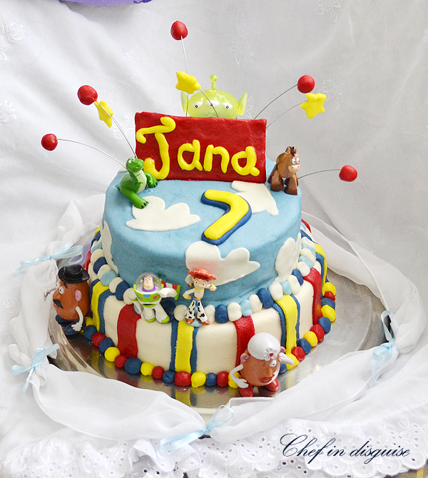 Superb Toy Story Cake Chef In Disguise Personalised Birthday Cards Rectzonderlifede