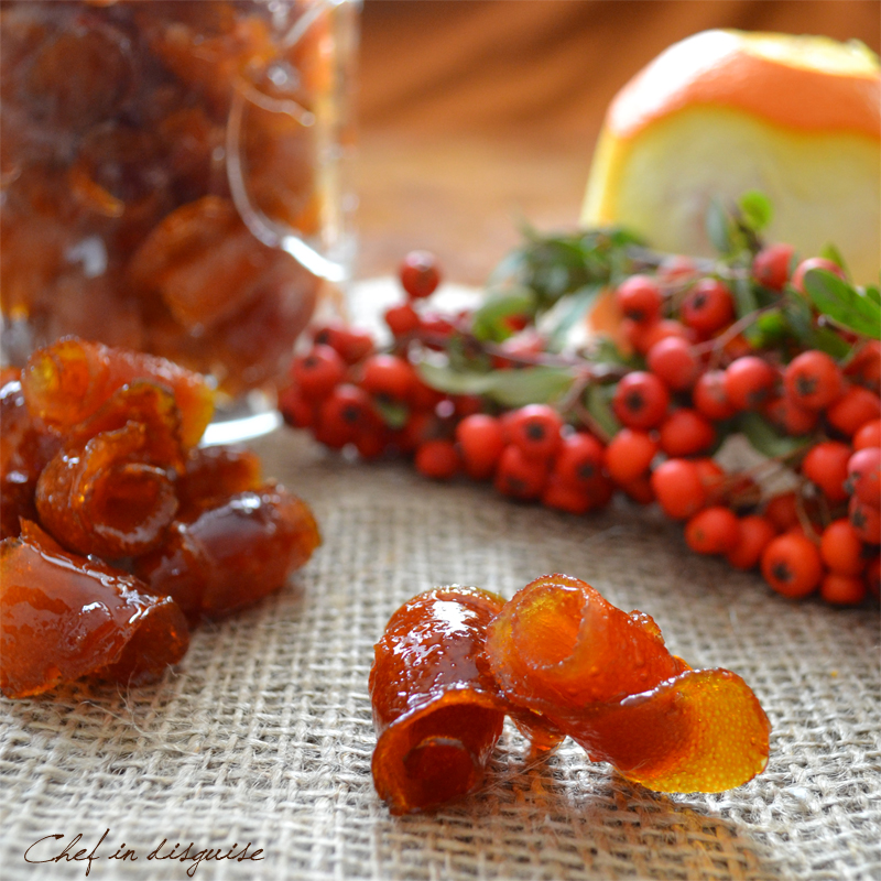 Candied orange peel | Chef in disguise