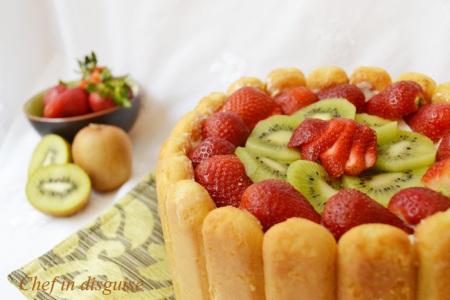 Lady finger fruit cake