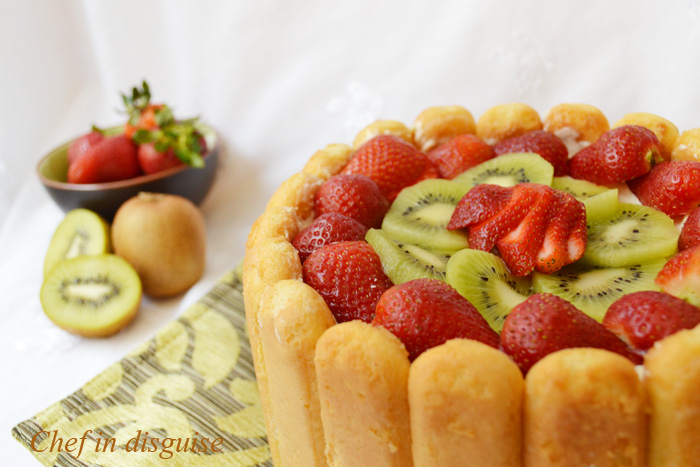Lady finger fruit cake