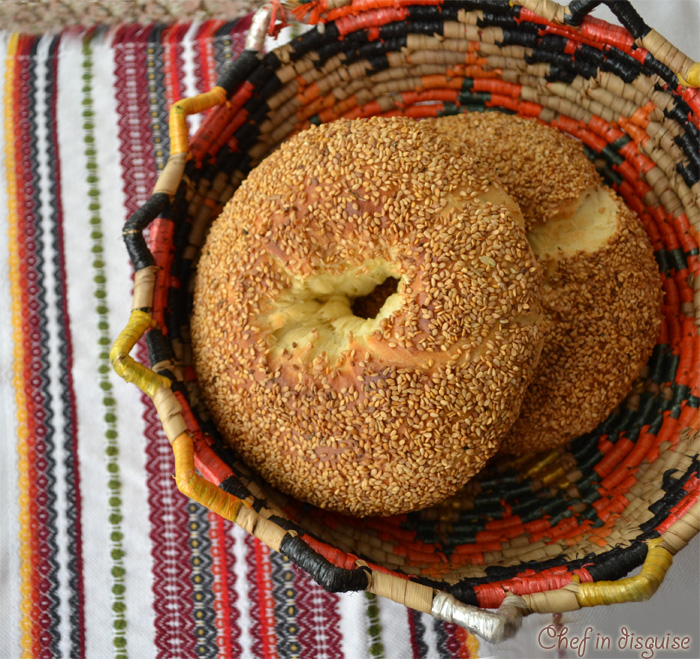 Arabic Ring Bread With Sesame Seeds
