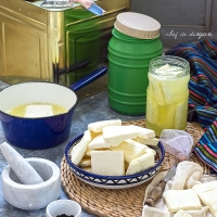 How to make Nabulsi cheese الجبنة النابلسية