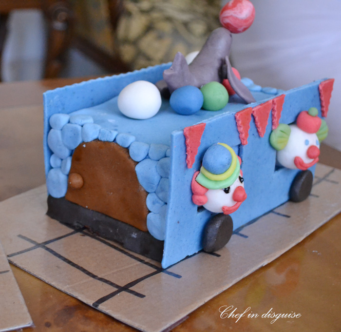 Clown Birthday Cake Triangle Decoration