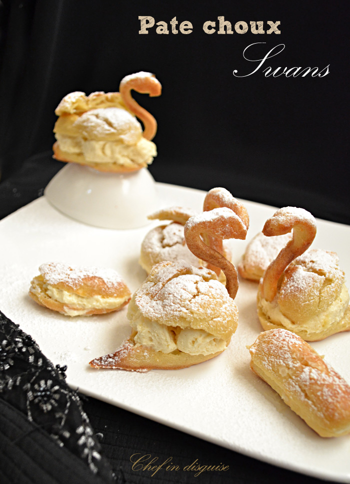 filled pate a choux swans chef in disguise. Black Bedroom Furniture Sets. Home Design Ideas