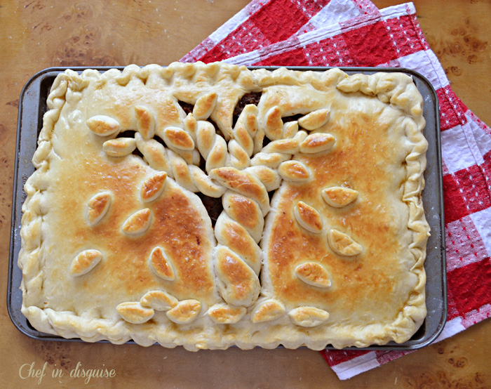 baked fall empanada