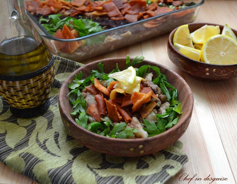 Lentils with pasta the syrian way horaa osbao today i am sharing one of my daughters favorite recipes horaa osbaao or rokak o adas is a traditional syrian recipe made of lentils and pasta forumfinder Images
