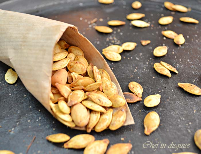 Ginger paprika toasted pumpkin seeds – Chef in disguise