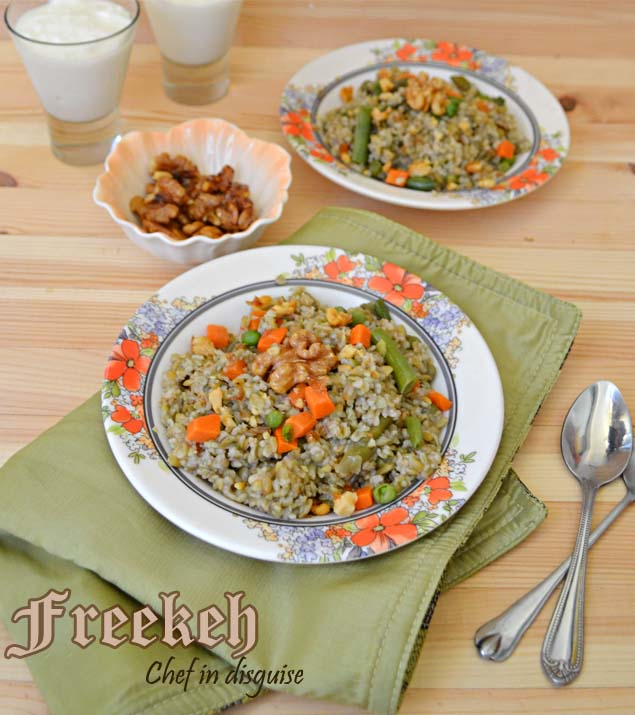 Freekeh With Mixed Vegetables (virtual Vegan Potluck