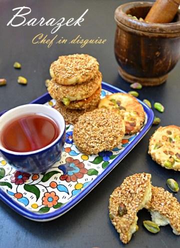chef in disguise:pistachio honey sesame cookies