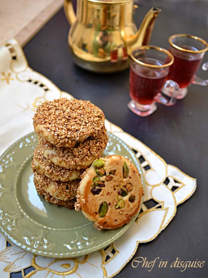 barazek cookies with sesame and honey
