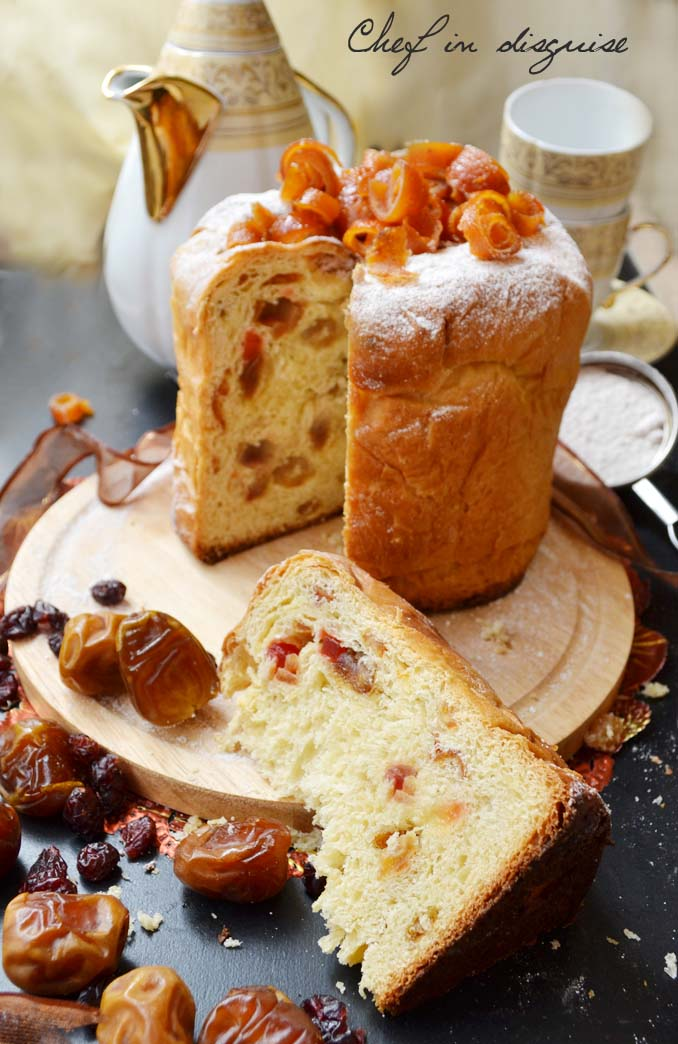 Chef in disguise sliced panettone bread