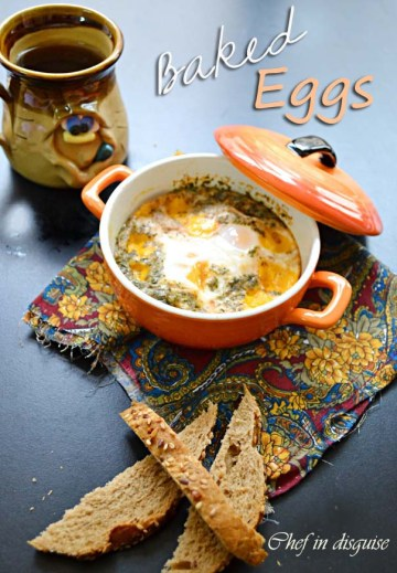 baked eggs @ chef iin disguise