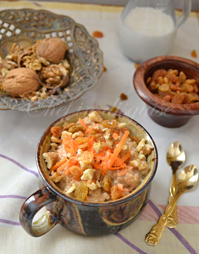 chef in disguise: carrot cake oatmeal