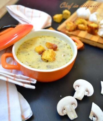 Chef in disguise: garlic mushroom soup