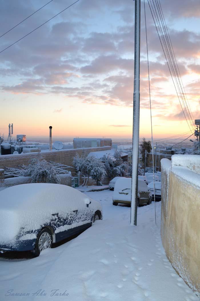 snow dawn