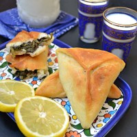 Spinach pastry triangle (Fatayer sabanekh )