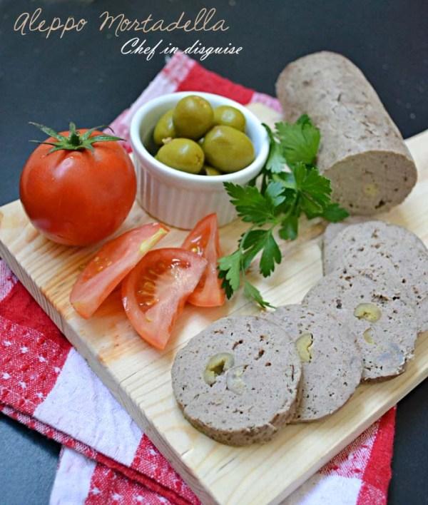aleppo mortadella with olives