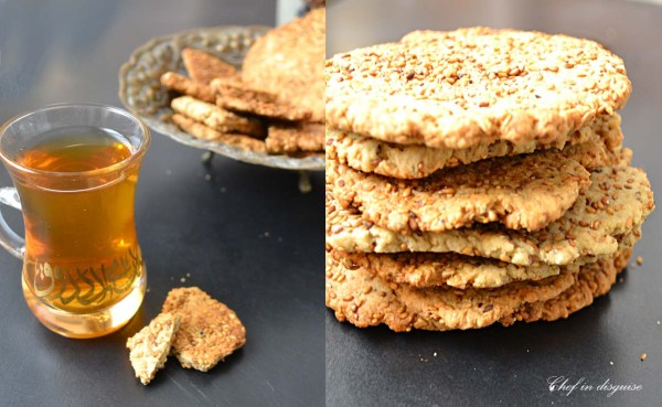 Sweet sesame crackers @chef in disguise