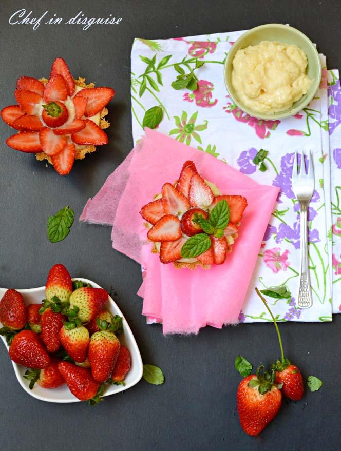 strawberry kunafeh tarts