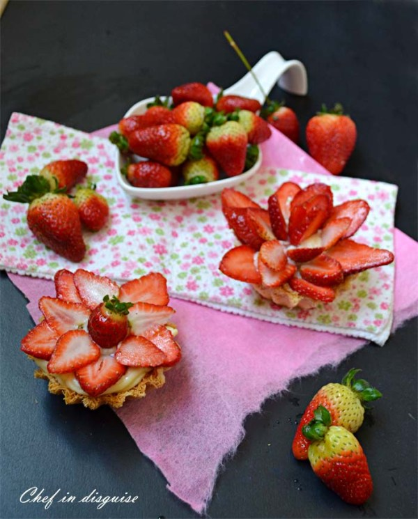 strawberry tart@ chef in disguise`