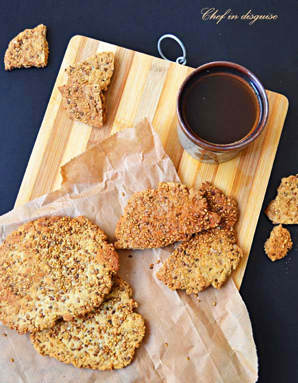 sweet sesame crackers