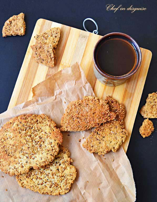 sweet sesame crackers