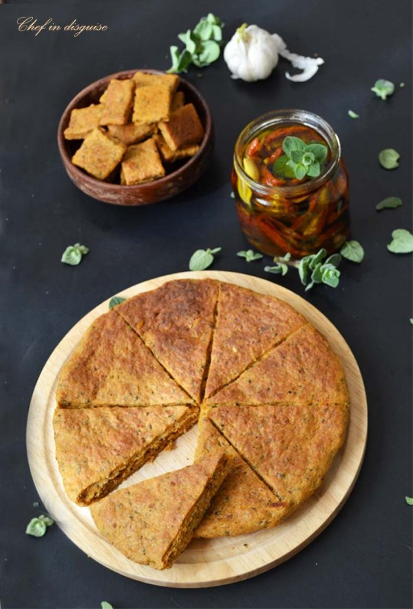 tomato basil flat bread