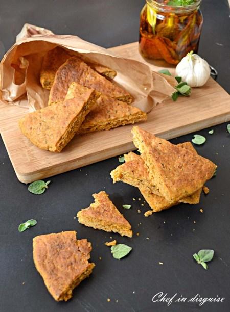 tomato herb garlic bread