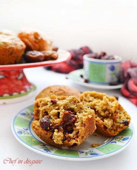 Hidden veggies fruit muffins@chef in disguise