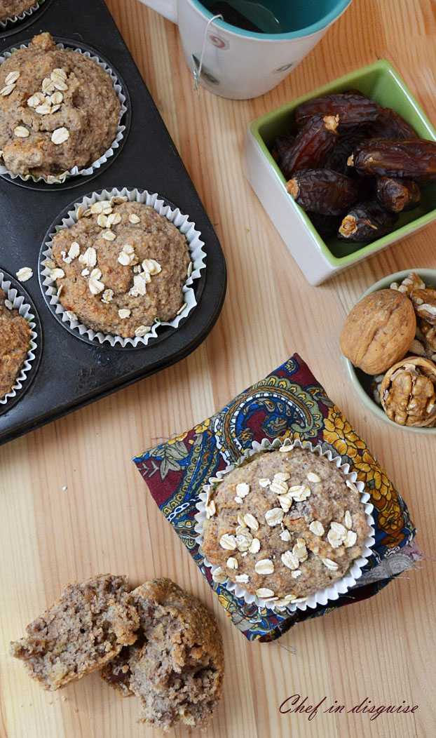 oatmeal vegan muffins