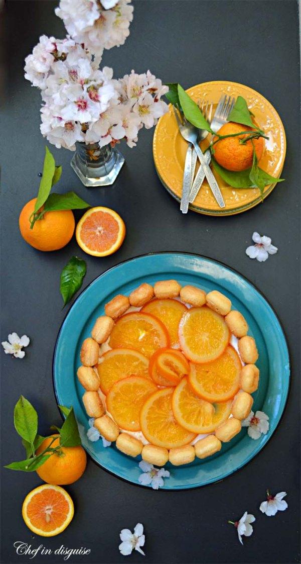 Lady Finger Cake With Strawberry Kiwi Mandarin Orange