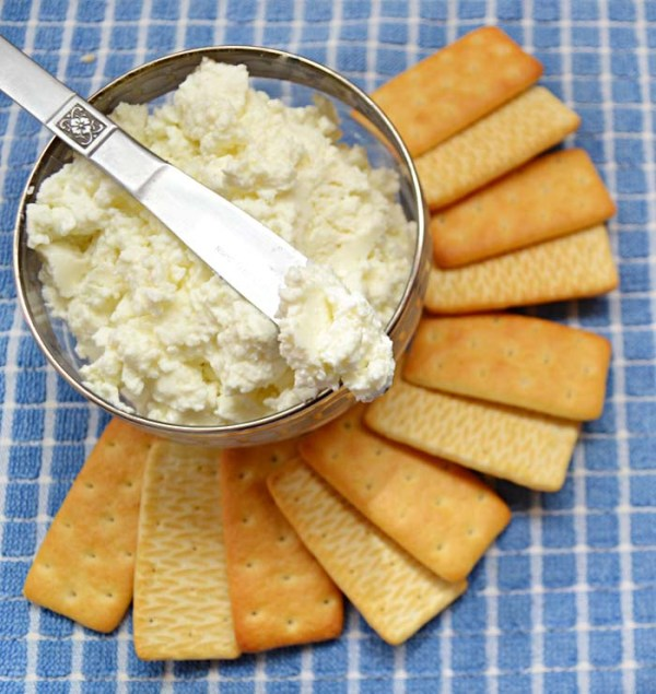 soft cheese with crackers