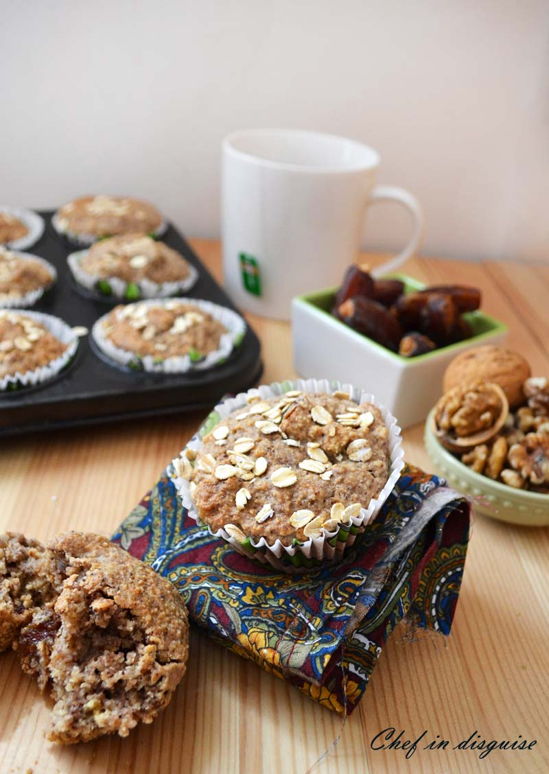 Vegan Apple Walnut Flax Muffins Recipe