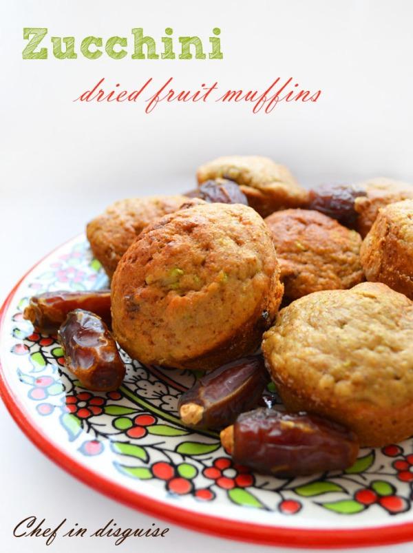 Hidden vegetables dried fruit muffins