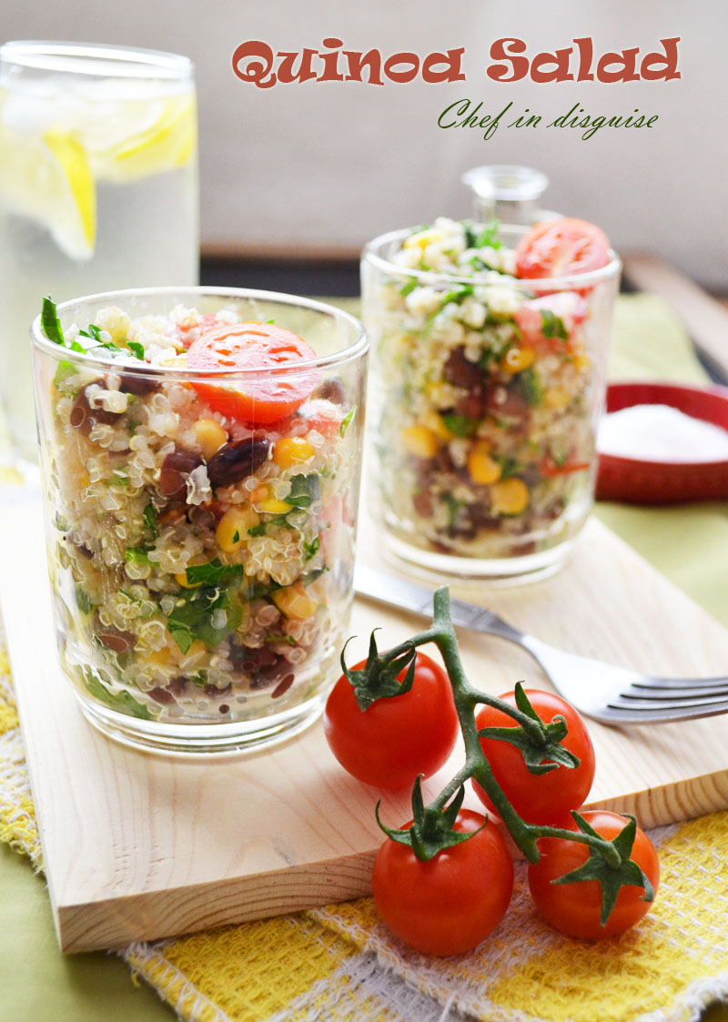 Quinoa salad with corn and black beans – Chef in disguise