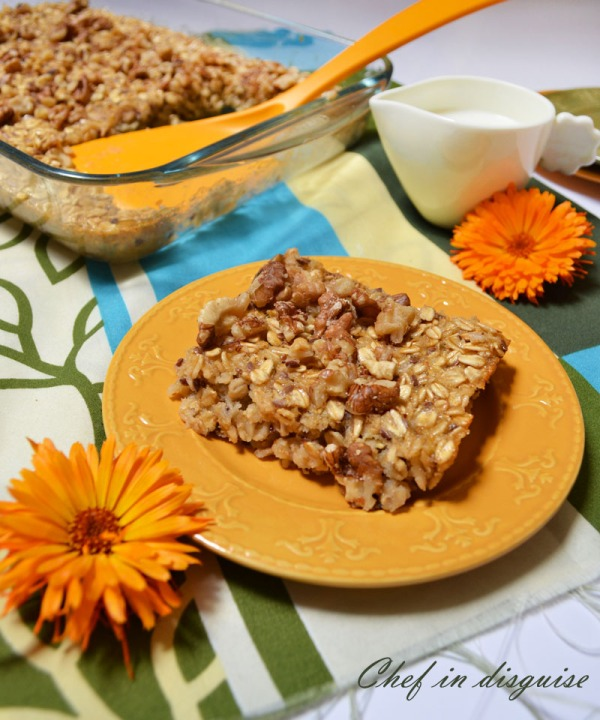 baked oatmeal with walnuts