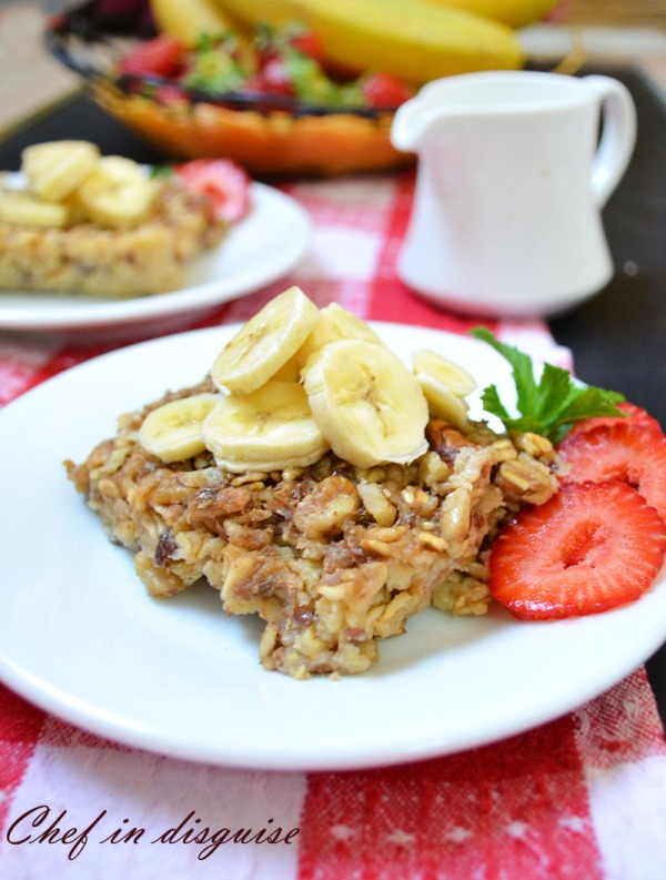 oatmeal baked with banana
