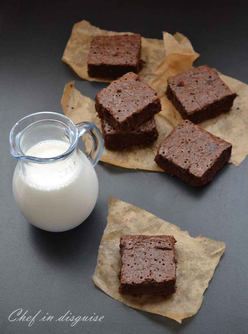 Sourdough brownies @ chef in disguise