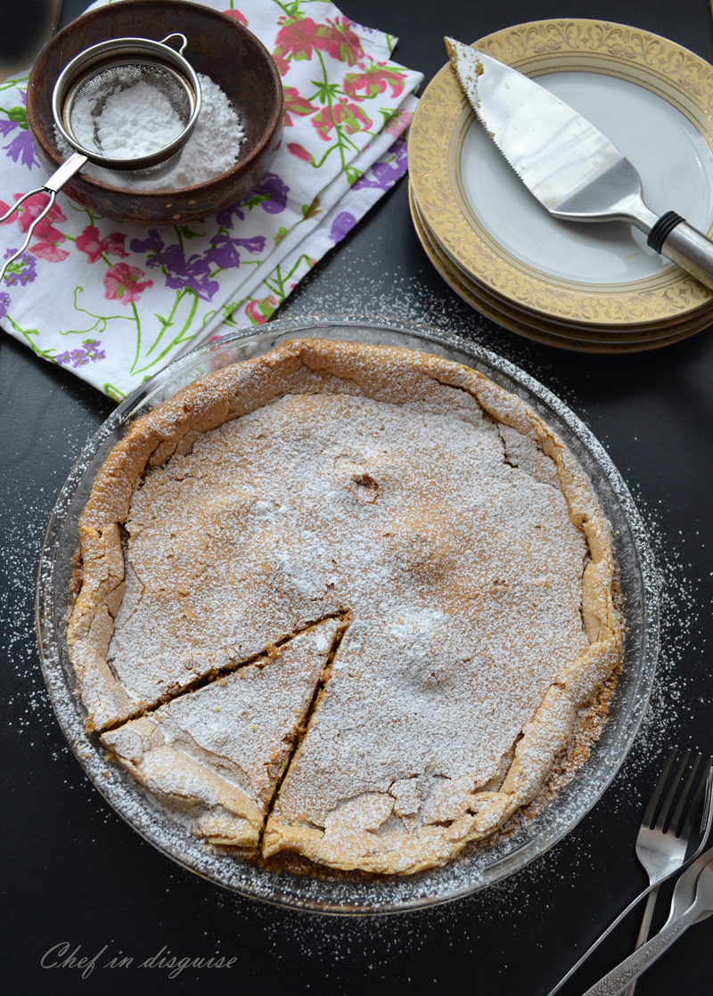 crack pie dusted with sugar