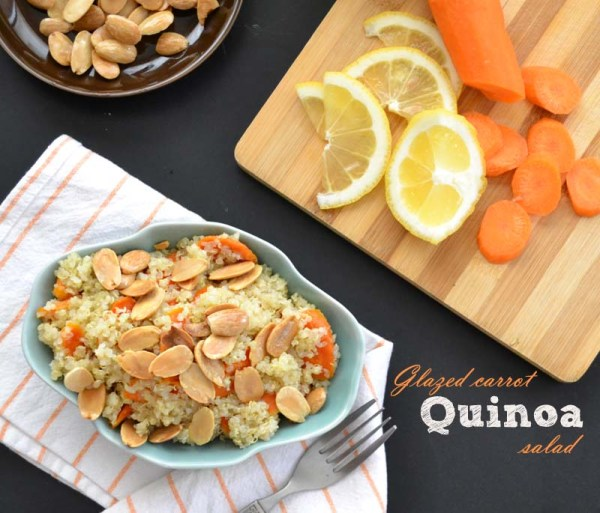 glazed carrot quinoa salad