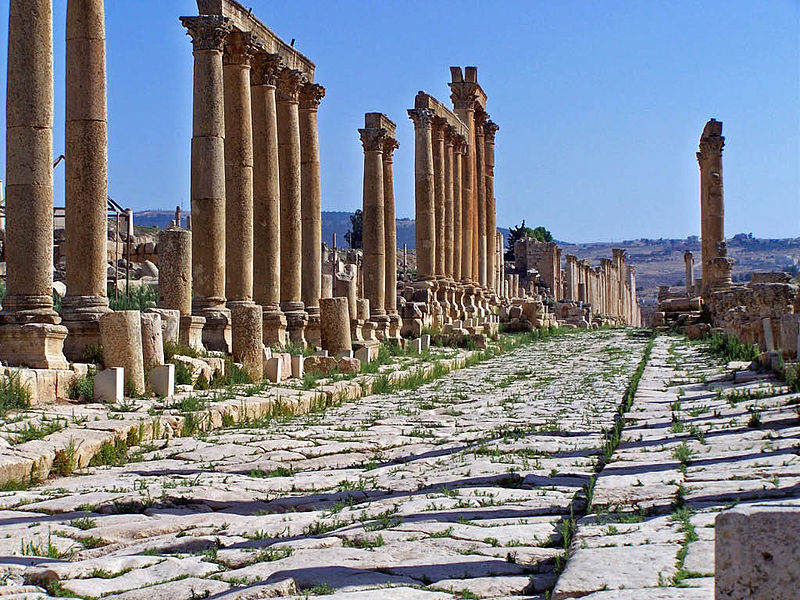 Picture source https://en.wikipedia.org/wiki/File:Jerash_cardo-maximus.jpg