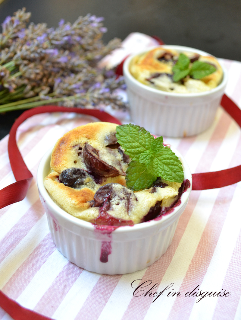 Cherry clafoutis quick, easy and yummy