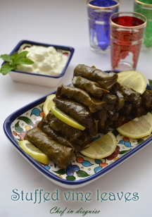 Chef in disguise: Stuffed grape leaves
