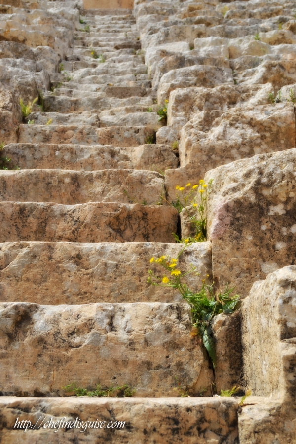 Jerash southern theater stairs