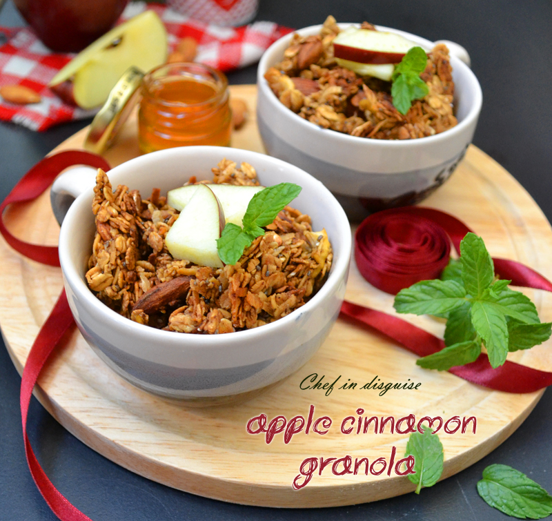 The ultimate apple cinnamon granola